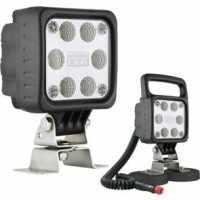Phare de travail carré 6 LED