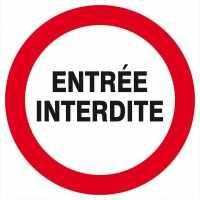 ENTREE INTERDITE D.300mm.