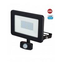 projecteur LED SMD IP44 50W, noir 6500K