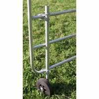 Roue d'appui pour portail de clôture réglable