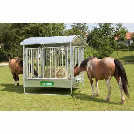 Mangeoire rect. chevaux avec râtelier de sécurité 2 x 2 m