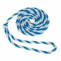 Longe transport bétail 3,20m par 10 pièces PP gde boucle bleu/blanc,Sisal