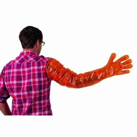 Gants de vélage VETbasic 90cm orange bte 100
