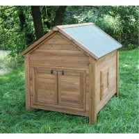 Abri bois pour poules et lapins, 105 x 100 x 108 cm.