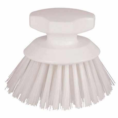 Brosse blanche ronde en polyester