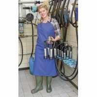 Tablier de traite et de lavage PU 100 x 125 cm bleu