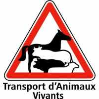 Panneau Transport d'animaux vivants 20x20cm blanc