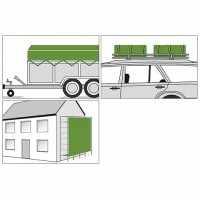 Bâche de protection Polyguard 110-120 gr/m² - 1,5 x 6 m