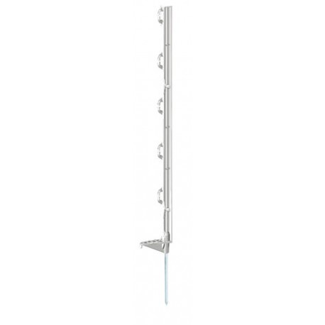 Piquet fibré plastique 105cm blanc 8 isolateurs