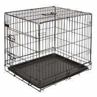 Cage de transport, noir, 63x48x57cm, 1 porte