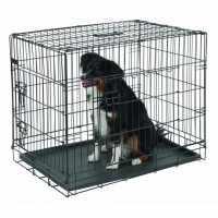 Cage de transport, noir, 2 portes
