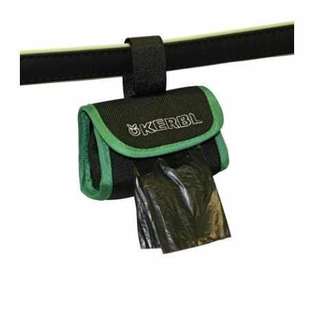 Sac pour sachets à déjections noir/vert 8 x 5,5 cm